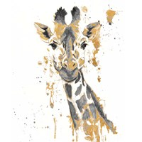 Gold Water Giraffe Framed Print