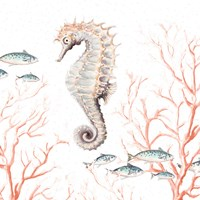 Seahorse On Coral Framed Print