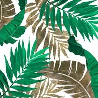 Modern Jungle Leaves Close Up I Framed Print