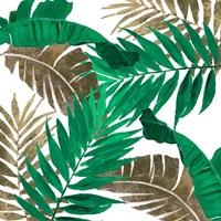 Modern Jungle Leaves Close Up II Framed Print