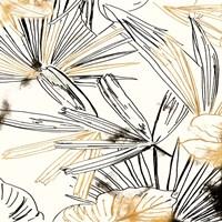 Selva Black And Gold Sketch I Framed Print