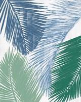 Baru Palm Collage II Framed Print