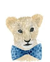 Lion With Bow Tie Fine Art Print