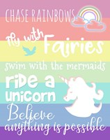 Chase Rainbows Framed Print