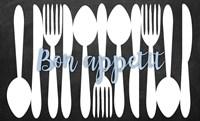 Bon Appetit Silverware Framed Print
