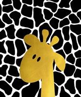 Gold Baby Giraffe Fine Art Print
