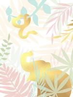 Golden Modern Safari I Fine Art Print