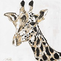 Speckled Gold Giraffe Framed Print