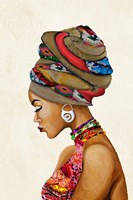 African Goddess on Beige Fine Art Print
