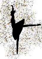 Ballerina Silhouette I Framed Print