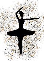 Ballerina Silhouette III Framed Print