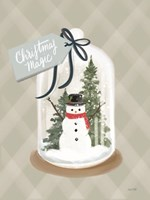 Christmas Magic Snow Globe Framed Print