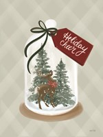 Holiday Cheer Snow Globe Framed Print