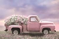 Pink Floral Truck Framed Print