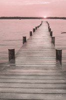 Pink Sunset at the Dock Fine Art Print