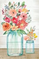 Country Floral Still Life Framed Print