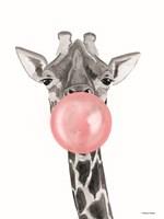 Bubblegum Giraffe Framed Print