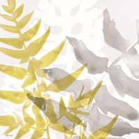 Yellow-Gray Leaves 2 Framed Print
