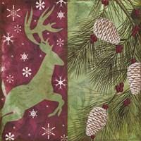 Cabin Christmas I Framed Print