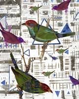 Bird Intersection II Framed Print