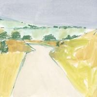 Country Road Sketch II Framed Print