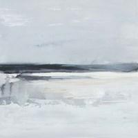 Inky Coastline I Framed Print