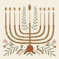 Natural Hanukkah I Fine Art Print