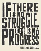 Frederick Douglass Quote I Framed Print