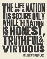 Frederick Douglass Quote II Framed Print