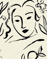 Matisse's Muse Portrait I Framed Print