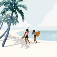Palm Tree Paradise II Framed Print