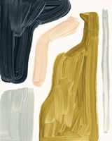 Brushy Shapes I Framed Print