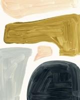 Brushy Shapes II Framed Print