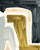 Brushy Shapes III Framed Print