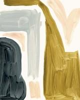 Brushy Shapes IV Framed Print