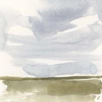 Open Field Sketch I Framed Print