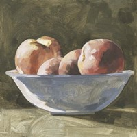 Bowl of Peaches I Framed Print