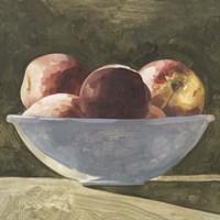 Bowl of Peaches II Framed Print