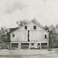Solemn Barn Sketch I Framed Print