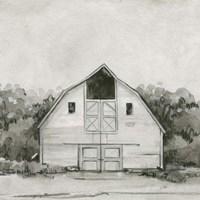 Solemn Barn Sketch III Framed Print