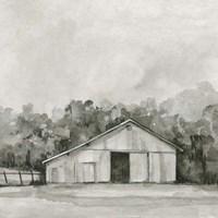 Solemn Barn Sketch IV Framed Print