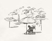 Rough Seaside Sketch II Framed Print
