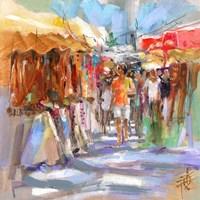 Market Scene II Fine Art Print