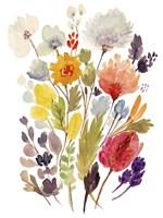 Modern Bouquet Stems II Framed Print