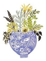 Painted Vase of Flowers I Framed Print