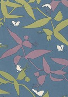 Japanese Floral Design III Framed Print