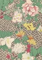 Japanese Floral Design IV Framed Print