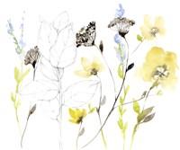 Wild Flowers & Contour I Framed Print