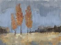 Burnt Sienna Treeline II Framed Print