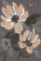 Peach & Sienna Bouquet II Framed Print
